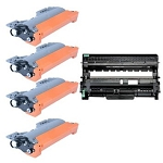 Compatible Brother 420/450-AVP [Value Pack] 1-Drum, 4 Toner Cartridges
