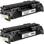 Remanufactured Toner Cartridge for HP© 80A [CF280A]-2PK