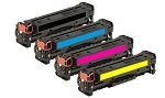 Remanufactured for HP 410A-AVP [Value Pack] B,C,M,Y Toner Cartridges