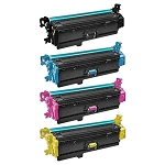 Remanufactured for HP 508X-AVP [Value Pack] B,C,M,Y Toner Cartridges