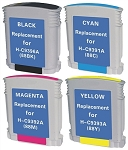 Remanufactured for HP 88XL-AVP [Value Pack] B,C,M,Y Ink Cartridges