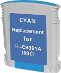 Remanufactured Ink Cartridge for HP© C9391AN [88XL] Cyan