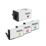 Remanufactured for HP 902XL-AVP [Value Pack] B,C,M,Y Ink Cartridges