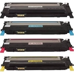Toner Cartridges Compatible with Samsung 409-AVP [Value Pack] B,C,M,Y