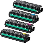 Toner Cartridges Compatible with Samsung 506-AVP [Value Pack] B,C,M,Y