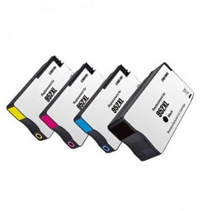 Remanufactured for HP© 952XL-AVP [Value Pack] B,C,M,Y Ink Cartridges